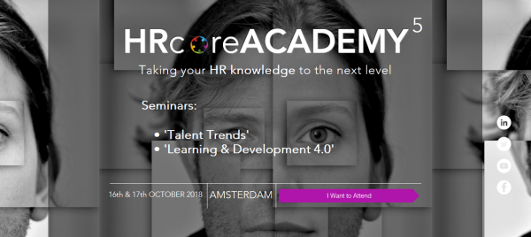 Invitation to the 5th HRcoreACADEMY conference - Amsterdam on 16th & 17th October 2018